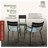 Album artwork for BEETHOVEN. BRAHMS. Trios. Manasse/Nakamatsu/Greens