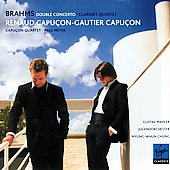 Album artwork for Brahms: Double Concerto, Clarinet Quintet (Capucon