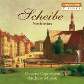 Album artwork for Scheibe: Sinfonias / Andrew Manze, Concerto Copenh