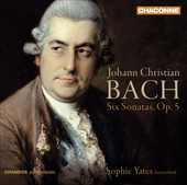 Album artwork for J.C. Bach: Six Harpsichord Sonatas, Op.5 (Yates)