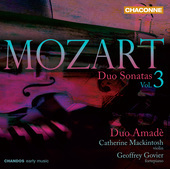 Album artwork for Mozart: Duo Sonatas Vol. 3