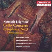 Album artwork for Kenneth Leighton: Cello Concerto, Symphony No.3