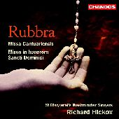 Album artwork for RUBBRA: MISSA CANTUARIENSIS / MISSA IN HONOREM