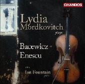 Album artwork for Lydia Mordkovitch: Plays Baecwicz & Enescu