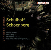 Album artwork for Schulhoff, Schoenberg: Chamber Works