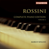 Album artwork for Rossini: Piano Works Vol. 4 (Sollini)