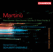 Album artwork for Martinu: Piano Quartet, Oboe Quartet, Piano Trio N