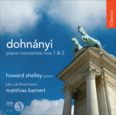 Album artwork for Dohnanyi: Piano Concertos Nos. 1 & 2 / Shelley