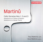Album artwork for Martinu: Cello Sonatas Nos 1, 2 and 3 / Watkins
