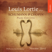 Album artwork for Louie Lortie plays Schumann & Chopin concertos