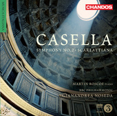 Album artwork for Casella: Symphony No. 2 & Scarlattiana