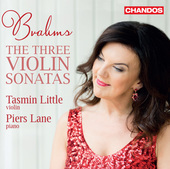 Album artwork for Brahms: The 3 Violin Sonatas / Tasmin Little