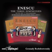 Album artwork for Enescu: The 3 Symphonies, Orchestral Suite No. 3 &