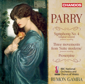 Album artwork for Parry: Symphony No. 4, Proserpine & Suite moderne