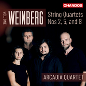 Album artwork for Weinberg: String Quartets, Vol. 1