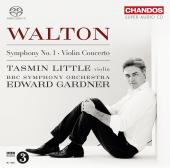 Album artwork for Walton: Symphony #1, Violin Concerto / Little, Gar