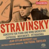 Album artwork for Stravinsky: Works for Piano & Orchestra / Bavouzet