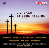 Album artwork for Bach: St. John Passion, (Sung in English)