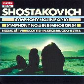 Album artwork for Shostakovich: Symphonies Nos 1 & 6 (Jarvi)