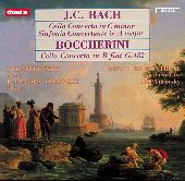 Album artwork for Bach / Boccherini: Cello Concertos (Turovsky)
