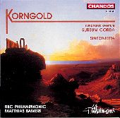Album artwork for Korngold: Sinfonietta, Sursum Coda (Bambert)