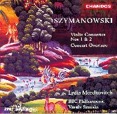 Album artwork for Szymanowski: Violin Concertos (Mordkovitch)