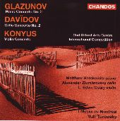 Album artwork for Glazunov/Davidov/Konyus: Concertos