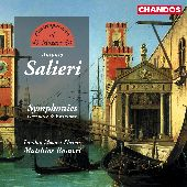 Album artwork for SALIERI - SYMPHONIES, OVERTURES AND VARIATIONS