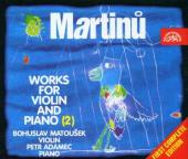 Album artwork for Martinu: WORKS FOR VIOLIN AND PIANO vol.2