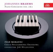 Album artwork for Brahms: Piano Concertos 1 & 2 (Moravec)