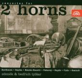 Album artwork for Concertos for Two Horns (Beethoven, Reicha, Rosett