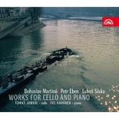 Album artwork for Works for Cello & Piano by Martinu, Eben, Sluka