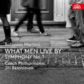 Album artwork for Martinu: Symphony #1, What Men Live By