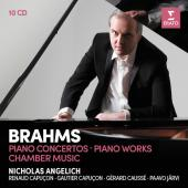 Album artwork for Brahms: Piano Concertos, Piano Works / Angelich