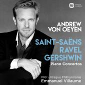 Album artwork for Piano Concertos - Ravel, Gershwin, Saint-Saens