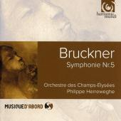 Album artwork for Bruckner: Symphony #5 / Herreweghe