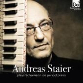 Album artwork for Andreas Staier plays Schumann on period piano
