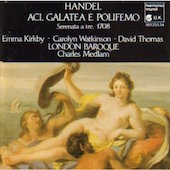 Album artwork for Handel: Aci, Galatea, e Polifemo / Kirkby, Thomas