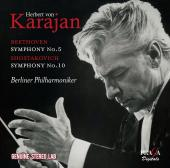 Album artwork for Karajan conducts Beethoven & Shostakovich