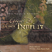 Album artwork for GRAND BAL A LA COUR D'HENRI IV