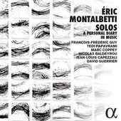 Album artwork for Éric Montalbetti: Solos – A Personal Diary in M