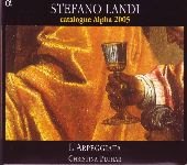 Album artwork for Stefano Landi - Catalogue Alpha 2005 / Pluhar, L'