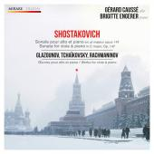 Album artwork for Gerard causse: Viola Music of Shostakovich, Glazun