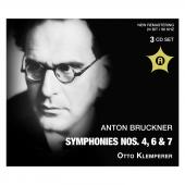 Album artwork for Bruckner: Symphonies 4, 6 & 7 / Klemperer