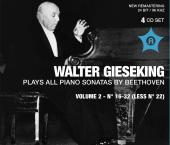 Album artwork for Beethoven: Piano Sonatas / Gieseking