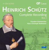 Album artwork for Schütz: Complete Recordings vol. 1 / Rademann