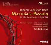 Album artwork for Bach: ST. MATTHEW PASSION / Bernius