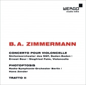 Album artwork for Zimmermann: Cello Concerto, Photoptosis, Tratto II