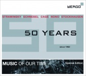 Album artwork for Wergo 50 Years (1962-2012) - Music of Our Time
