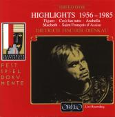 Album artwork for Highlights 1956-1985, Dietrich Fischer-Dieskau